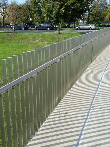Stainless Steel Rails and Sidewalk Lights