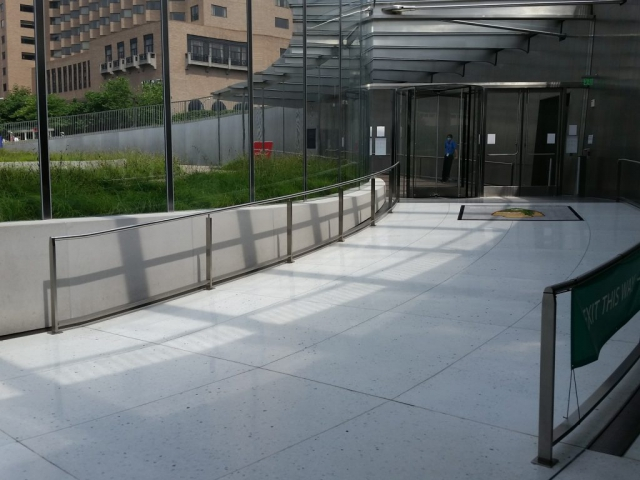 Curved Stainless Steel Handrails