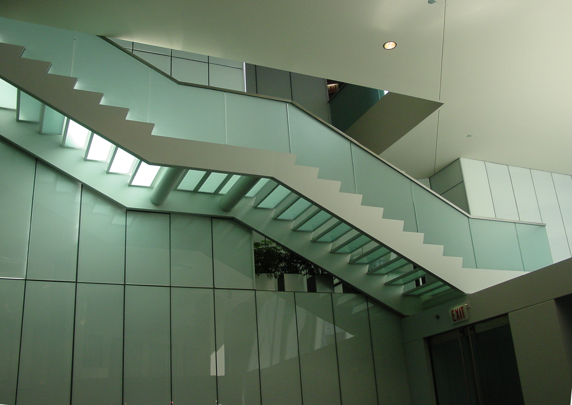 Steel and Glass Stair