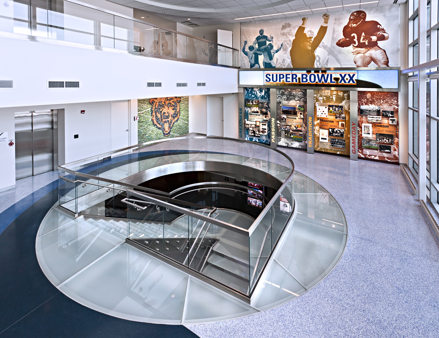 Stainless Steel and Glass Stair